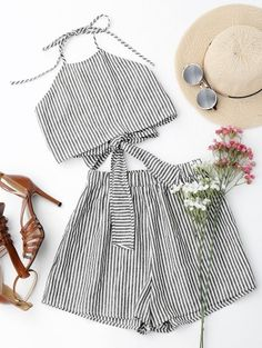 SHARE & Get it FREE | Halter Striped Two Piece Suit - Stripe SFor Fashion Lovers only:80,000+ Items • New Arrivals Daily Join Zaful: Get YOUR $50 NOW!