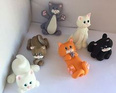 6-x-3D-Edible-Cake-Topper-Pussy-Cats-Kittens-or-Cupcake-Decoration-Fondant