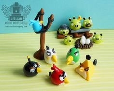 edible angry birds fondant toppers | Flickr - Photo Sharing!