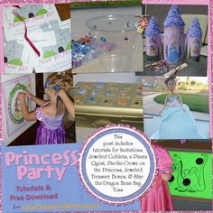 Princess Birthday Party Tutorials and Free Download