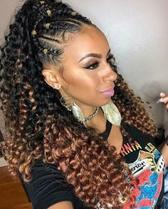 When slays your hair crochet and feed in braids all in one. I love … When slays your hair crochet and feed in braids all in one. I love … – goddess braids – Crochet Braids Hairstyles, Ponytail Hairstyles, Protective Hairstyles, Braided Hairstyles, Protective Styles, Updo, Afro Hair Style, Curly Hair Styles, Tree Braids