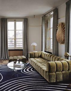 Discover Top 10 French Interior Designers Based in Paris – Part VII Sofa Design, Furniture Design, Interior Design, Interior Decorating, Luxury Interior, Modern Furniture, Elle Decor, Headboard Designs, French Interior