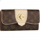The Louis Vuitton Boetie wallet is particularly feminine with its rounded shape. It is made from House classic Monogram canvas with a striking golden engraved twist lock. Coach Handbags, Coach Purses, Purses And Bags, Lv Bags, Sacs Design, Brown Wallet, Style Outfits, Louis Vuitton Wallet, Monogram Canvas