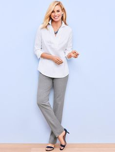 I like the look of these pants from Talbots. Straight-leg. Lindsey.
