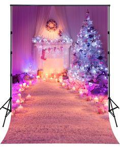 2016 New Sale Christmas Candles Photography Backdrops Newborn Baby Chrismas Photo Background For Celebration XT-4316