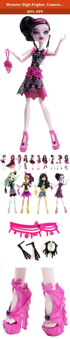 Monster High Frights, Camera, Action! Black Carpet Draculaura Doll. Monster High Frights, Camera, Action! Black Carpet Draculaura Doll: Draculaura doll is looking gore-geous glamorous for the Hauntlywood Black Carpet Premiere. With the monster opportunity to show off her killer sense of style, it's going to be a complete horror show! This daughter of Dracula's dress is to die for with its bat-iful art deco-inspired print, shimmery pink skirt accent and tulle ruffled sleeves. A…