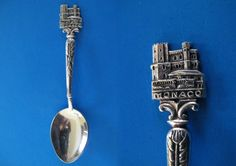 souvenir spoons from europe | ... Souvenir Collector Spoon Vintage Collectible Western Europe Hallmarked