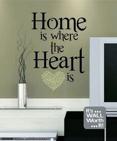 Home is where the Heart is Vinyl Wall Decal by ItsWallWorthIt, $20.00