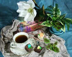 Still Life: Book & tea on a Southern afternoon