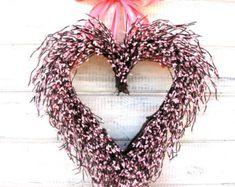 Valentines Day Wreath-Valentine Heart by WildRidgeDesign on Etsy