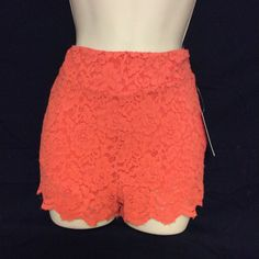 Free People Lace Shorts NWT Size 2 Free People lace shorts the color is called Dragon Fruit,size 2. Sorry no trades. Free People Shorts