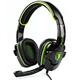 #9: SADES SA708 Stereo Gaming Headset Heahphone for PC with Volume-Control Microphone(Green) #tech #ad