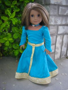 Brave Merida Inspired Dress for American Girl Doll by ArtisticAmy