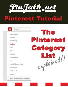 Tutorial The Pinterest Category List