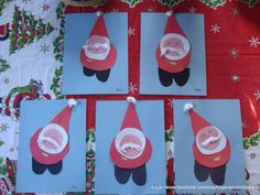 Shape Santa (just a pic link doesnt go to directions but looks pretty easy and good cutting practice. could even hang on the tree) Christmas Art Projects, Christmas Arts And Crafts, Santa Crafts, Winter Art Projects, Preschool Christmas, Noel Christmas, Christmas Activities, Winter Christmas, Holiday Crafts