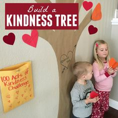 Every time you catch your students doing an act of kindness, have them write it on a heart and put it on the tree.  Great way to keep an eye out for those positive behaviors.  Read more at:  http://www.toddlerapproved.com/2016/01/build-kindness-tree.html Friendship Activities For Preschool, Activities For Kindergarten, Educational Activities For Kids, Kindergarten Class, Classroom Activities, Preschool Activities, Preschool Boards, Valentine Activities, Preschool Class