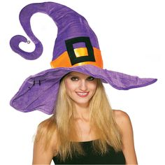 Giant Purple Funky Witch Hat 49061