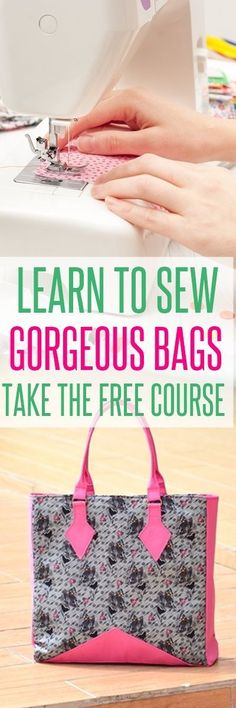 free bag patterns handbag patterns purse patterns learn to sew bags Handbag Patterns, Bag Patterns To Sew, Sewing Patterns Free, Sewing Tutorials, Free Sewing, Bag Tutorials, Pattern Sewing, Sewing Diy, Sewing Projects