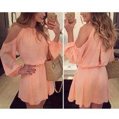 Vestido de gasa con hombros descubiertos, PRECIOSO!!!  Por menos de 20 €!  Consiguelo! http://moda.bioargannature.com/shop/