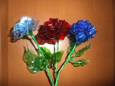 Unique Recycled Craft Ideas   recycling ideas and tutorial : roses from plastic bottles   make ...