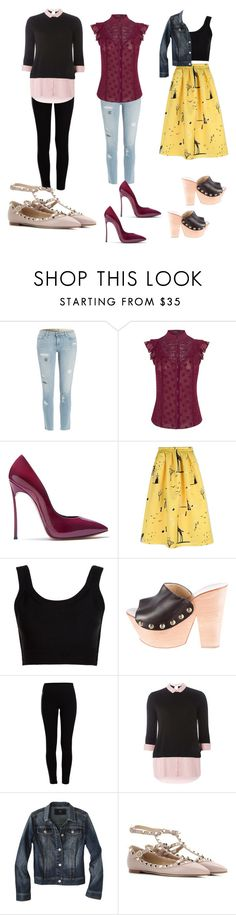 """""""Casual"""" by ellenfischerbeauty ❤ liked on Polyvore featuring Paige Denim, Karen Millen, Casadei, Rochas, Calvin Klein Collection, Giuseppe Zanotti, Pieces, Dorothy Perkins, Mossimo and Valentino"""