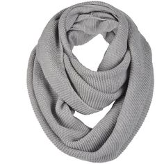 Unisex Soft Knit Winter Infinity Scarf (Multicolor Choose) ❤ liked on Polyvore featuring accessories, scarves, tube scarves, circle scarves, infinity scarves, knit scarves and colorful scarves