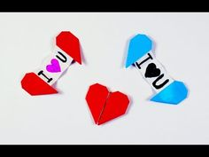 Sobre para cartas de papel / Origami envelope with a heart brooch - YouTube