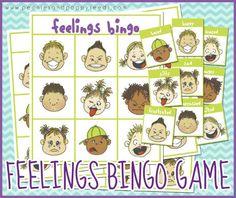 Juego para trabajar e identificar emociones con los niños: bingo de emociones