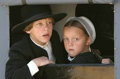 Amish boy and girl.