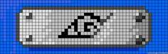 Naruto Konoha perler bead pattern