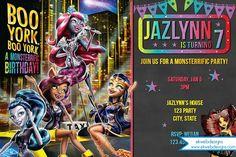 Monster High BOO YORK Digital Birthday Invitation