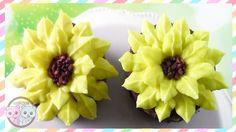 SUNFLOWER CUPCAKES, SUNFLOWER CAKE, FLOWER CUPCAKES - SUGARCODER