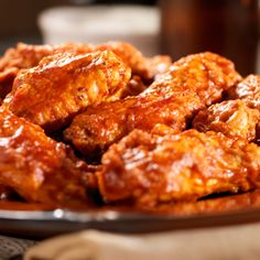 Moore's Buffalo Wings are so good, extremely easy to make and perfect for game day! All you need is 1 cup of Moore's Buffalo Wing Sauce, 1 cup Wish-Bone Robusto Italian Salad Dressing and 1 pound frozen chicken wings, thawed.