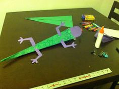 Art With Ms M: Construction Paper Lizards! The Fold Line, Glue Dots, Construction Paper, Origami, Pinterest Pin, Lizards, Ms, Frozen, Students