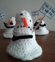 Snowman Prophets Inspired by the Calvin and Hobbes comic from March 8, 1993. Anybody can make a snowman, but it takes a special kind of pe...