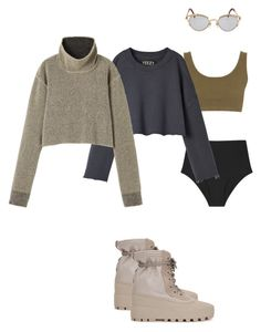 """""""yeezys season"""" by astrro on Polyvore featuring adidas Originals and Jean-Paul Gaultier"""