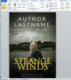 microsoft word book cover template