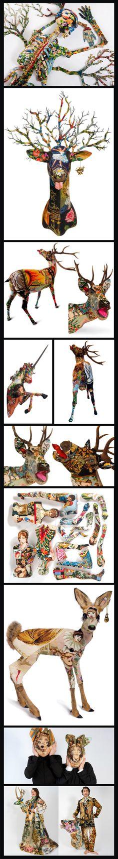Frédérique Morrel Frederique, Photo Manipulation, Love Art, Needlepoint, Surrealism, Samurai, Mixed Media, Collage, Illustration