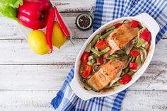Receta de Salmón al horno con verduras ¡Una receta súper saludable!  #SalmonAlHorno #Salmon #RecetasConSalmon #SalmonAlHornoConVerduras #RecetasSaludables #RecetasDePescado #RecetasDePescadoFaciles