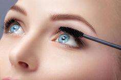 mascara brush close up makeup for blue eyes mascara applying