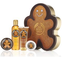 The Body Shop Christmas gingerbread range. I'm using it sparingly. Smells beautiful, especially on a winters night in the bath. Hurry up Santa !! I need more