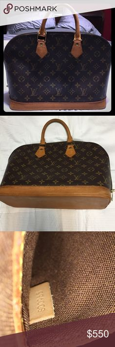 💯 authentic Louis Vuitton Alma pm Such a beautiful bag! Authentic LV Alma pm. Minimal leather darkening/water mark on bottom. 2 Slight tears that's hardly noticeable on the bottom of bag can easily be glued back and not tearing into purse. Just on outside. Exterior canvas is in excellent condition and as is the interior. Taking less on pàypal.❤️❤️❤️ Will possibly trade for a never full!! Louis Vuitton Bags Shoulder Bags