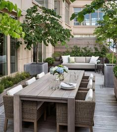 "Georgiana Design - ""Upper West Side Terrace I. - Georgiana Design – ""Upper West Side Terrace I. Terrace Design, Patio Design, Design Design, Design Ideas, Design Homes, Plan Design, Modern Design, Outdoor Rooms, Outdoor Living"
