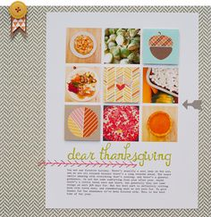 #papercraft #scrapbook #layout by Linda Barber on October Afternoon