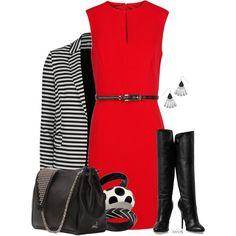 """A Dress and a Blazer"" by pinkroseten on Polyvore"