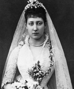 Tea Time at Winter Palace:  Princess Louise of Wales on her wedding day, 27th July 1889