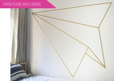I am so excited to show you all our guest room! We have our first round of guest coming to stay really soon so this room gets pretty high priority on my To Do list. I wanted this room to have a cool boutique b+b vibe. What could be more hip than a geometric wall mural? We started out with some basic furnishings from Ikea, including this awesome geometric light shade from their temporary collections. I think this guy might inspire a few more projects here in the future, so look for ...
