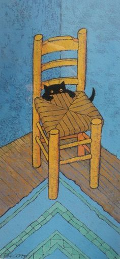 "bullzara: "" Le Chat Van Gogh by Toni Goffe. Simplemente fantástico. """
