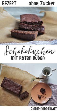 Schokokuchen Rezept OHNE Zucker. Mit roten Rüben wirds saftig und rund, mit Kokosblütenzucker wird sanft gesüßt. Tolle Alternative zu Schokoladenkuchen.