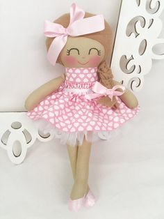 Handmade Doll Fabric Doll Girl Gift by SewManyPretties on Etsy